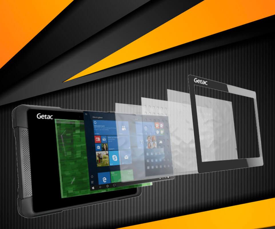 Tablet de alto brillo Getac T800